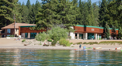 Exterior of North Tahoe Event Center from the lake