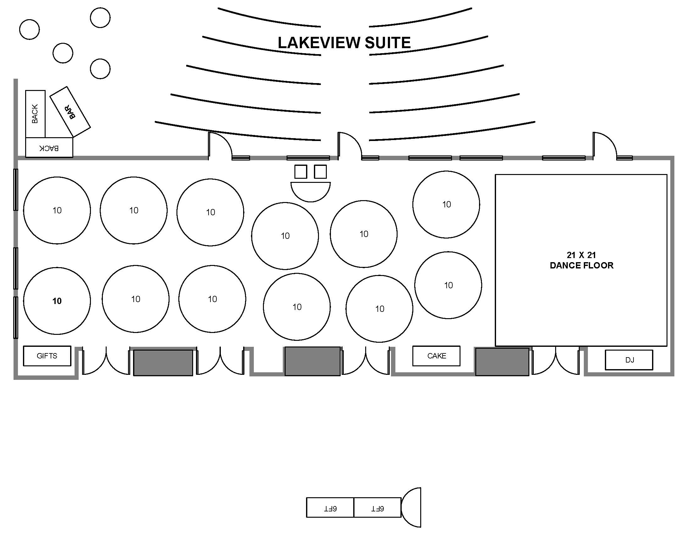 Lakeview Suite layout example